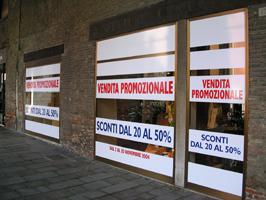 vetrina vendita promozionale