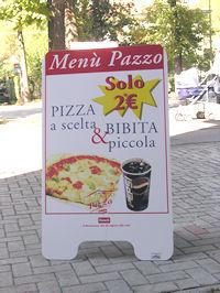 cavalletto bifacciale pizzeria