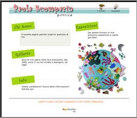 creazione siti web - sito pittore