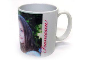 oggetti personalizzati anche singolo pezzo - tazza bianca personalizzabile